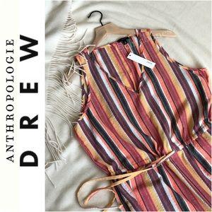Anthropologie Drew Striped Jumpsuit Size Large